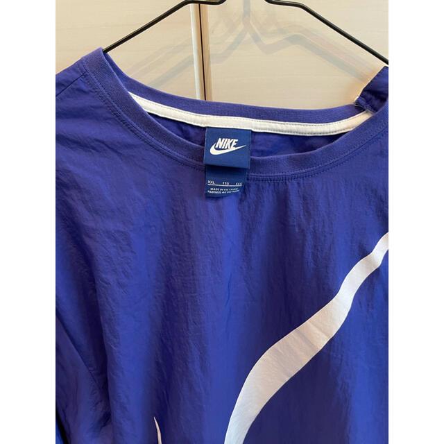 NIKE(ナイキ)のNIKE ナイキ プルオーバー ナイロンジャケット ブルー M-L相当 メンズのジャケット/アウター(ナイロンジャケット)の商品写真