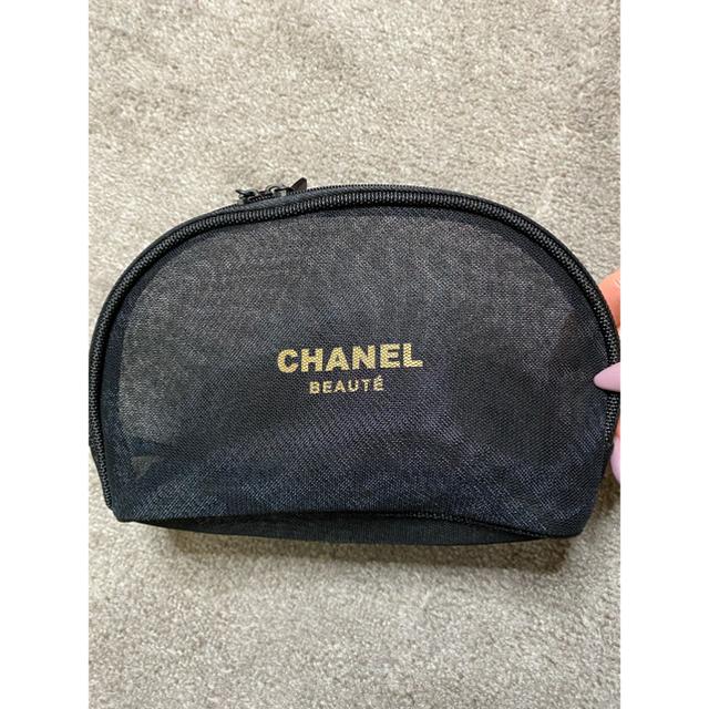 CHANEL(シャネル)のCHANEL シャネル メッシュ ポーチ ノベルティ 新品 レディースのファッション小物(ポーチ)の商品写真