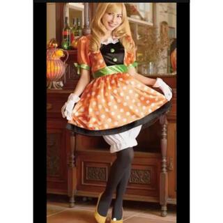 ディズニー(Disney)のディズニー ハロウィンコスチューム コスプレ衣装 パンプキン(ミニー)  (衣装一式)