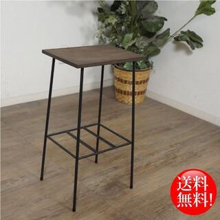 送料無料【新品】 木製天板 アイアン ミニラック(コーヒーテーブル/サイドテーブル)
