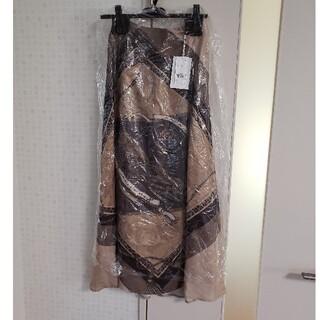 Ameri VINTAGE - タグ付き アメリヴィンテージ スカーフ スカート ベージュ M