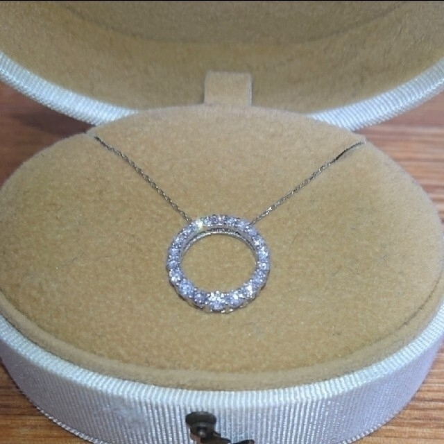 Vendome Aoyama(ヴァンドームアオヤマ)の新品同様♪ ダイヤモンド サークル ネックレス K18 0.5カラット レディースのアクセサリー(ネックレス)の商品写真