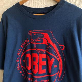 オベイ(OBEY)のOBEY  オベイ プリント 半袖 Tシャツ(Tシャツ/カットソー(半袖/袖なし))