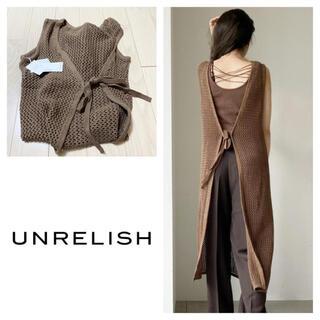 UNRELISH - 新品 アンレリッシュ 前後2WAYシアーニットワンピース