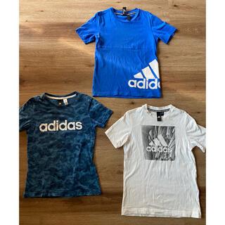 adidas - adidas おまとめ キッズ Tシャツ 130 size 男の子 3枚set
