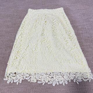 ミューズ(Mew's)の美品ミューズ レーススカート レースタイトスカート(ひざ丈スカート)
