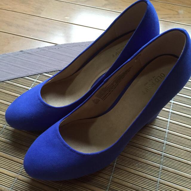 Old Navy(オールドネイビー)のオールドネイビー パンプス 25.5 ブルー レディースの靴/シューズ(ハイヒール/パンプス)の商品写真