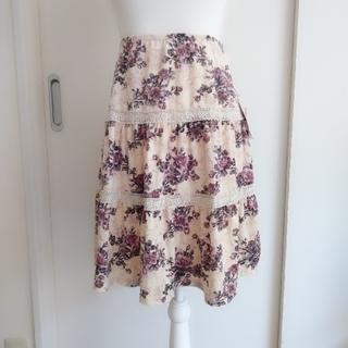 L'EST ROSE - 紙タグ付き♡レストローズ♡レーシーローズベロアスカート
