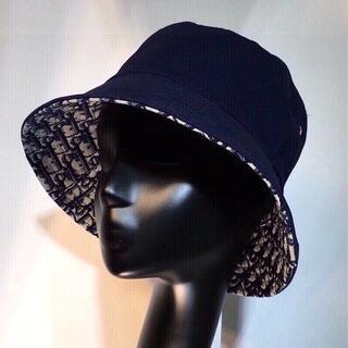 ディオール(Dior)の新品・未使用 PRADA バケハ バケットハット 帽子    黒 ブラック(ハット)