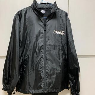 コカ・コーラ - 新品☆薄地パーカージャケット黒ウィンドブレイカーコカコーラMサイズ