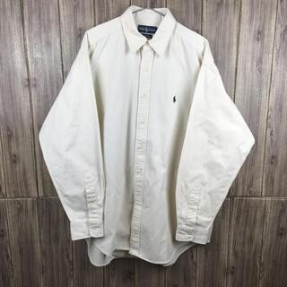 Ralph Lauren - Ralph Lauren クリーム色 ボタンシャツ XLサイズ
