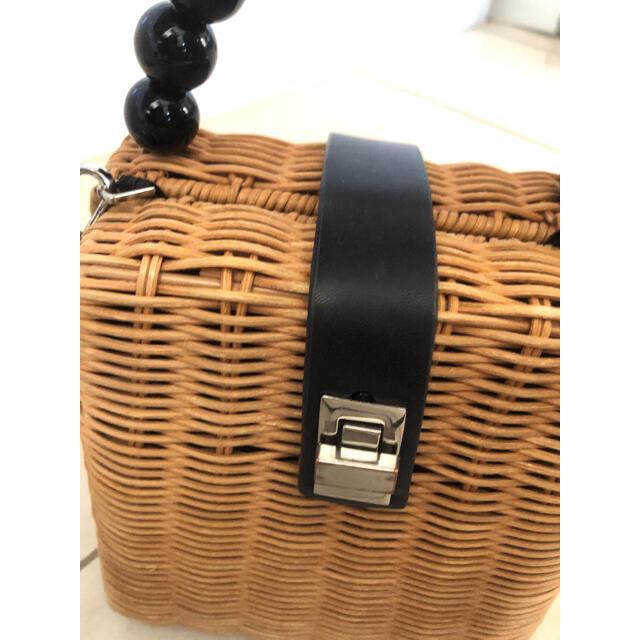 ZARA(ザラ)のZARAカゴバッグ レディースのバッグ(かごバッグ/ストローバッグ)の商品写真