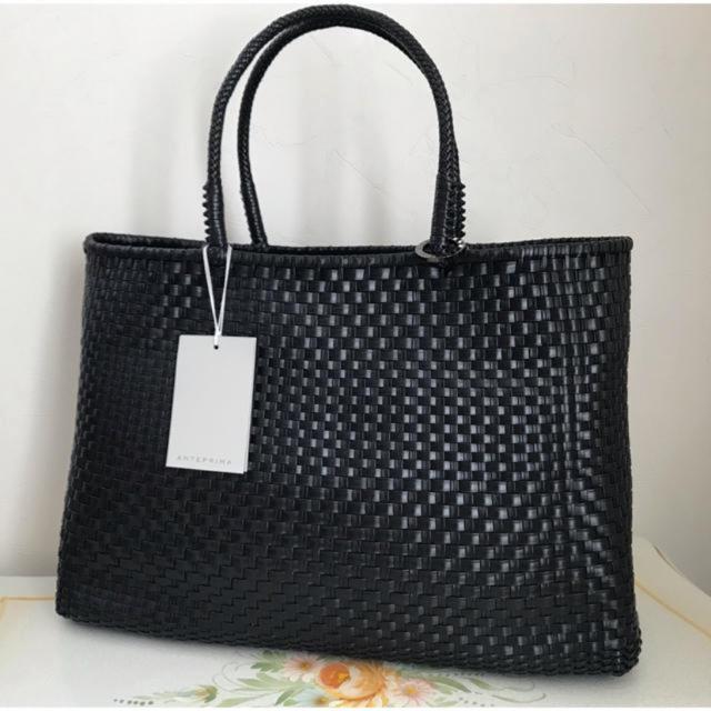 ANTEPRIMA(アンテプリマ)のタグ付き イントレッチオ/横長/マットブラック アンテプリマ レディースのバッグ(トートバッグ)の商品写真