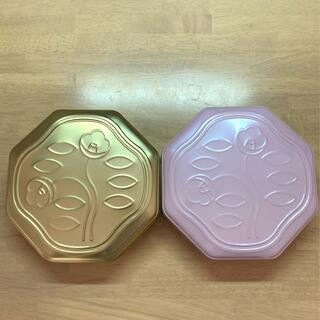 シセイドウ(SHISEIDO (資生堂))の資生堂パーラー 花椿ビスケット 限定缶 ゴールド パールピンク(小物入れ)