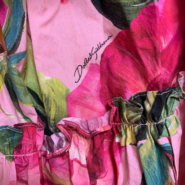 DOLCE&GABBANA(ドルチェアンドガッバーナ)のドルチェ&ガッバーナ ワンピース フラワー ワンピース 38 花柄ワンピース レディースのワンピース(ミニワンピース)の商品写真