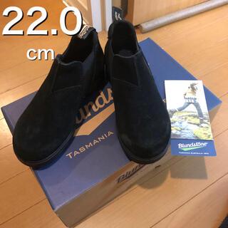 ブランドストーン(Blundstone)の【kidsにも】ブランドストーン UK2 ローカットモデル ブラック スエード(ブーツ)