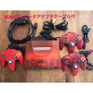NINTENDO 64 - Nintendo64 本体 レッド