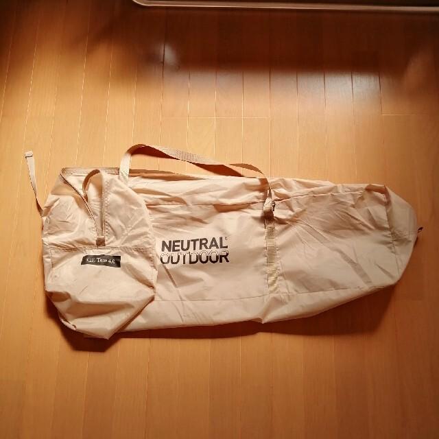 NEUTRAL OUTDOOR GEテント4.0 スポーツ/アウトドアのアウトドア(テント/タープ)の商品写真