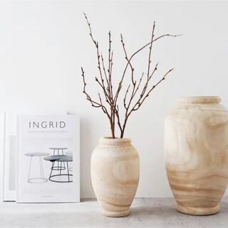 木製 ウッドフラワーベース 花瓶 韓国インテリア
