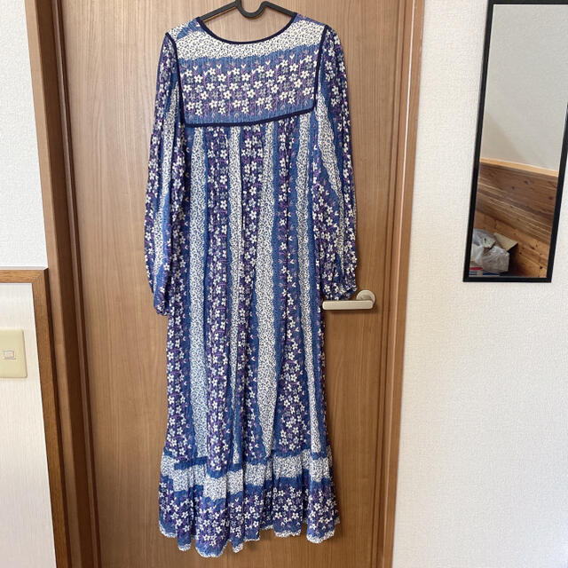DOORS / URBAN RESEARCH(ドアーズ)の美品 アーバンリサーチ インド綿 ロングワンピース レディースのワンピース(ロングワンピース/マキシワンピース)の商品写真