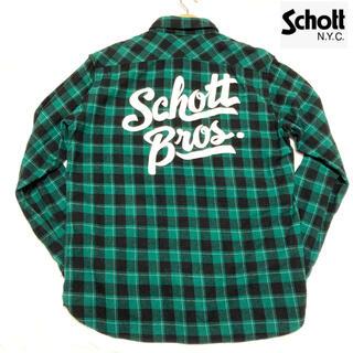 ショット(schott)のショット schott チェックシャツ ネルシャツ バックプリント(シャツ)
