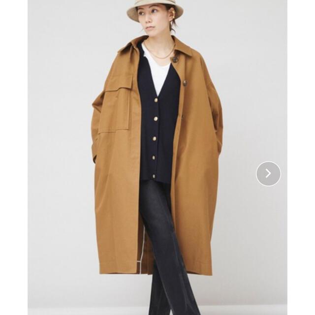DEUXIEME CLASSE(ドゥーズィエムクラス)のカレンソロジー オーバーサイズコート ブラウン レディースのジャケット/アウター(ロングコート)の商品写真