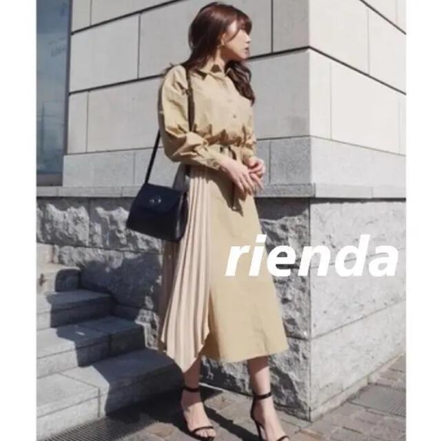 rienda(リエンダ)のrienda プリーツBELT SHコンビOP レディースのワンピース(ロングワンピース/マキシワンピース)の商品写真