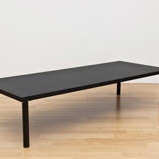 新品 フリーローテーブル 150×60 ブラック(ローテーブル)