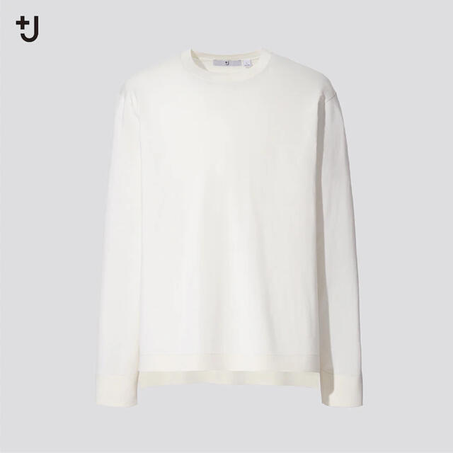 Jil Sander(ジルサンダー)の+J ユニクロ シルクコットン クルーネック セーター(長袖)ジルサンダー メンズのトップス(ニット/セーター)の商品写真
