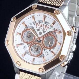 VERSACE - 【新品・正規品】ヴェルサス ヴェルサーチ 高級 メンズ腕時計 45mm クロノ