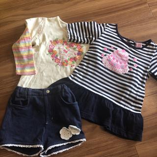 コンビミニ(Combi mini)のマザウェイズ Tシャツとコンビミニ 短パンセット(Tシャツ/カットソー)