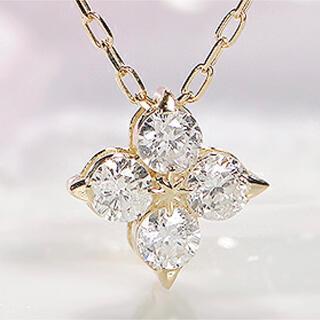 大特価 SALE 新品 K18 天然ダイヤモンドネックレス 0.13ct