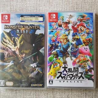 ニンテンドースイッチ(Nintendo Switch)のモンスターハンターライズ     大乱闘スマッシュブラザーズ(家庭用ゲームソフト)