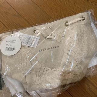 ALEXIA STAM - AXISIA STAM✨新作❣️新品、未使用✨フリンジ 巾着 ショルダーバッグ