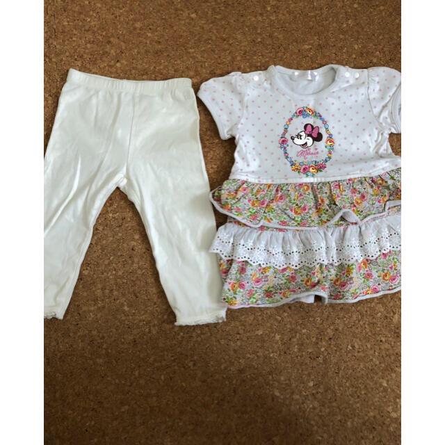 Disney(ディズニー)のディズニー ミニーマウスチュニック&ベビーギャップレギンス キッズ/ベビー/マタニティのベビー服(~85cm)(ワンピース)の商品写真