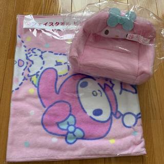 マイメロディ - サンリオくじ フェイスタオル マイメロ ミニティッシュケース ピンク