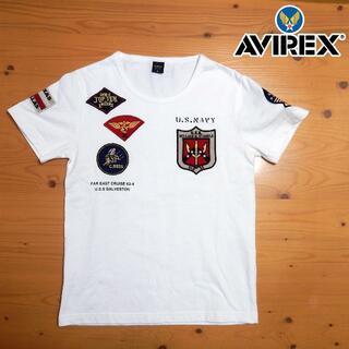 アヴィレックス(AVIREX)のアヴィレックス AVIREX TOMCATワッペンTシャツ(Tシャツ/カットソー(半袖/袖なし))