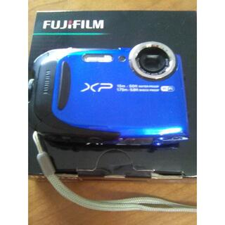 富士フイルム - 防水カメラ 富士フィルム FINEPIX xp80 ブルー(SDカード付き)