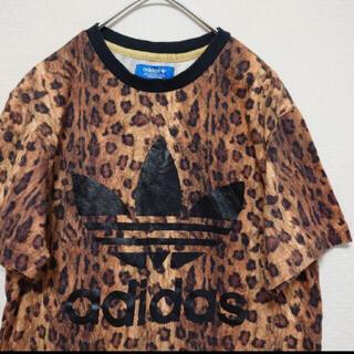 adidas - adidas  ヒョウ柄Tシャツ