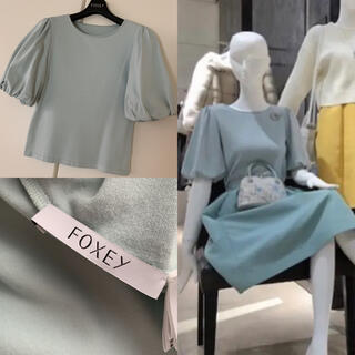 FOXEY - ♡極美品♡ FOXEY 人気 ボリューム袖 ニット トップス 40 ミント