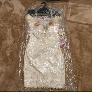 新品未使用 ローブドフルール ホワイト ミニ丈 ワンピース ドレス