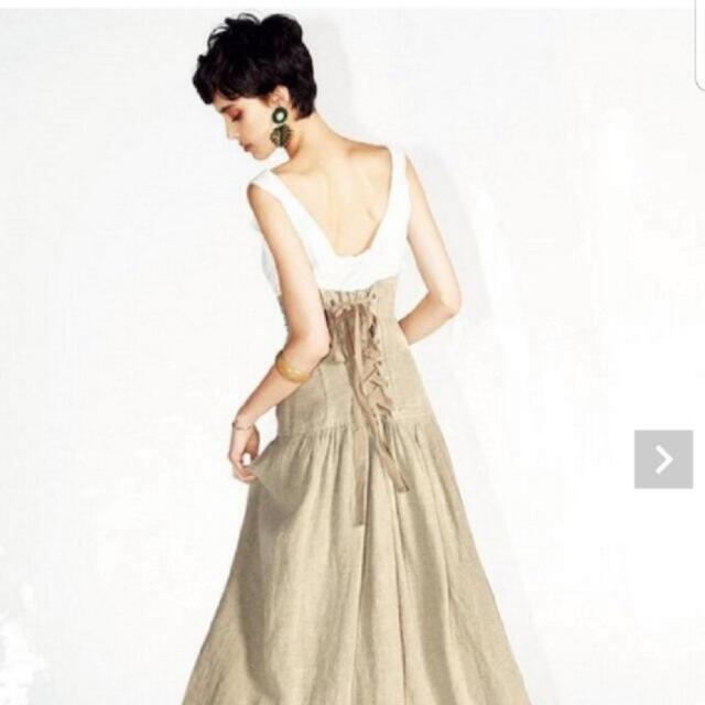 FRAY I.D(フレイアイディー)のFRAY I.D コルセットロングスカート 0 ベージュ レディースのスカート(ロングスカート)の商品写真