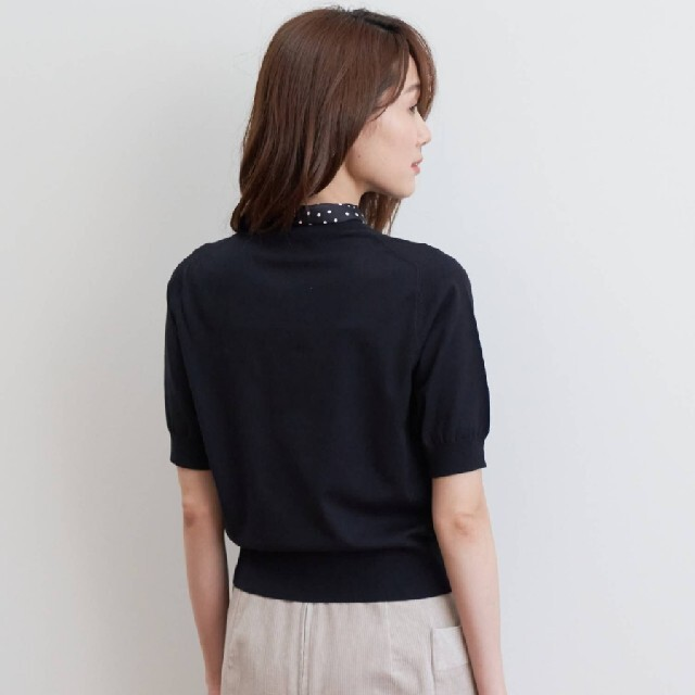 ANAYI(アナイ)のタグ付新品 アナイ ドットスカーフ プルオーバー  レディースのトップス(ニット/セーター)の商品写真