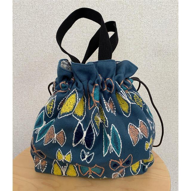 mina perhonen(ミナペルホネン)の専用☆mina perhonen 巾着バッグ sky flower レディースのバッグ(ショルダーバッグ)の商品写真