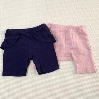 西松屋 - 西松屋 ネイビー&ピンク 5分丈 パンツ セット