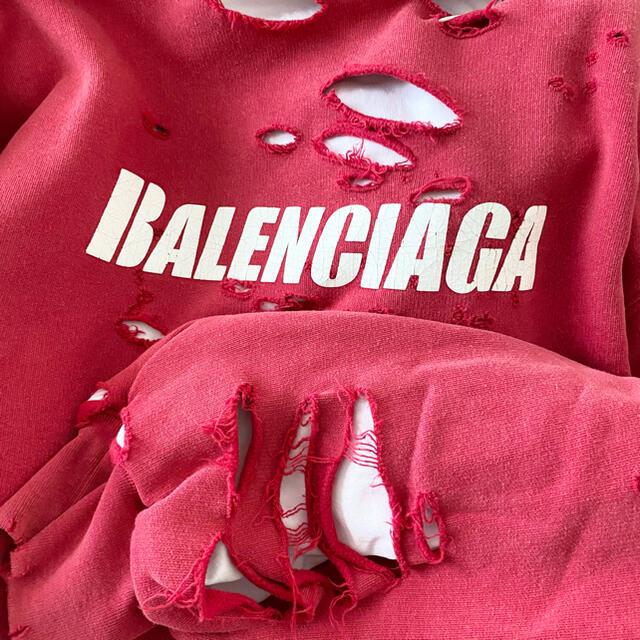 Balenciaga(バレンシアガ)の新品100%本物 【XS】balenciaga ダメージ パーカー バレンシアガ メンズのトップス(パーカー)の商品写真