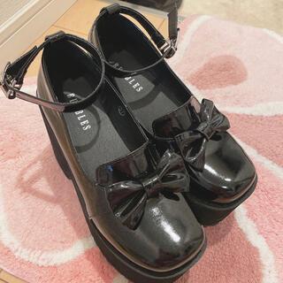 バブルス(Bubbles)のBUBBLES厚底リボン(ローファー/革靴)