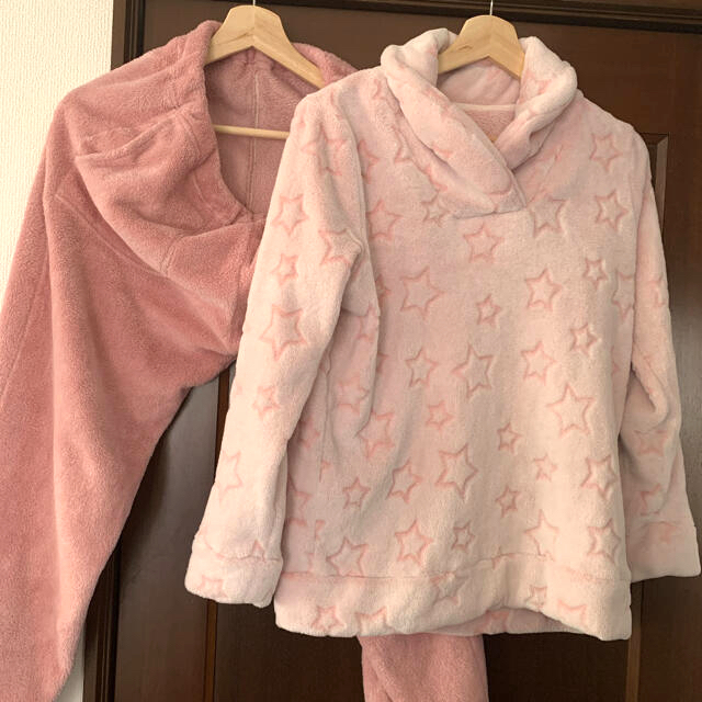 GU(ジーユー)のGU ルームウェア 部屋着 ピンク 星 レディースのルームウェア/パジャマ(ルームウェア)の商品写真
