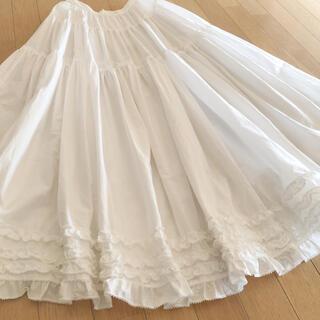 PINK HOUSE - カネコイサオ ピコレース フリル ボリュームたっぷり 白 スカート ペチコート