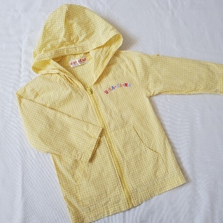 サンリオ(サンリオ)のU*SA*HA*NA 薄手ジップアップパーカー 100cm 黄色(ジャケット/上着)